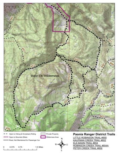 map of Gunnison - Little Robinson #850