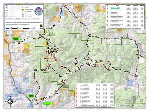 Snowmobile Trails in Routt National Forest (NF) in Northwest Colorado. Published by the Northwest Colorado Snowmobile Club and the U.S. Forest Service (USFS).