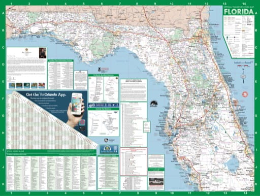 map of Florida State - Highway Map 2017 North