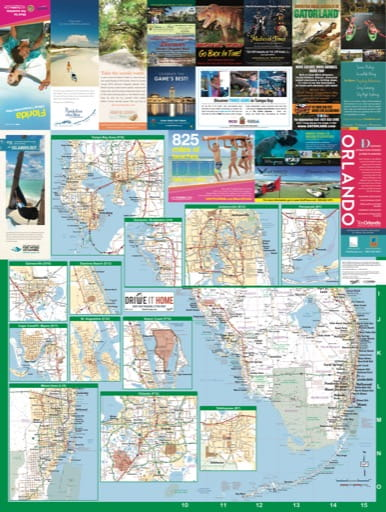 map of Florida State - Highway Map 2017 South
