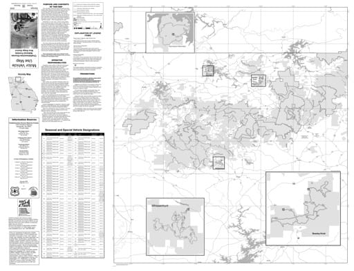Motor Vehicle Use Map (MVUM) of the Blue Ridge Ranger District of Chattahoochee-Oconee National Forest (NF) in Georgia. Published by the U.S. Forest Service (USFS).