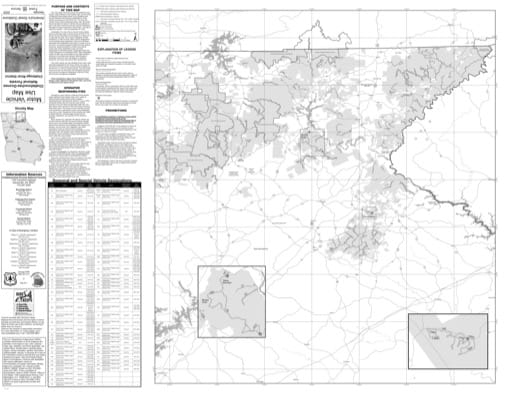 Motor Vehicle Use Map (MVUM) of the Chattooga River Ranger District of Chattahoochee-Oconee National Forest (NF) in Georgia. Published by the U.S. Forest Service (USFS).