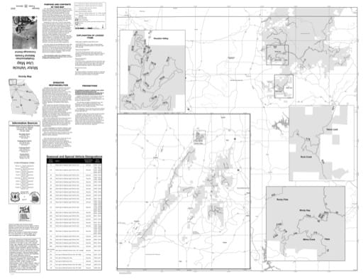 Motor Vehicle Use Map (MVUM) of the Conasauga Ranger District of Chattahoochee-Oconee National Forest (NF) in Georgia. Published by the U.S. Forest Service (USFS).