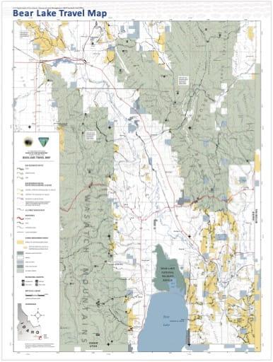 map of Bear Lake - Travel Map