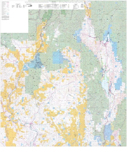 map of Boise - District Map North 100K
