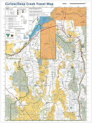 map of Curlew/Deep Creek - Travel Map