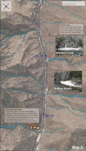 map of Lower Salmon River - Guide 2