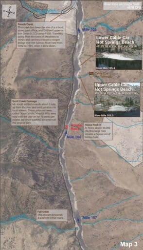 Map 3 of the Lower Salmon River Guide in Idaho. Published by the Bureau of Land Management (BLM).