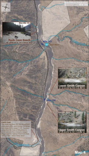 map of Lower Salmon River - Guide 4