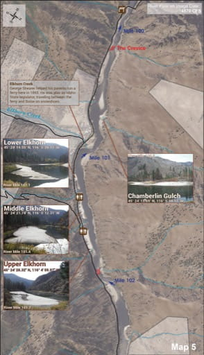 map of Lower Salmon River - Guide 5