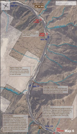 map of Lower Salmon River - Guide 6