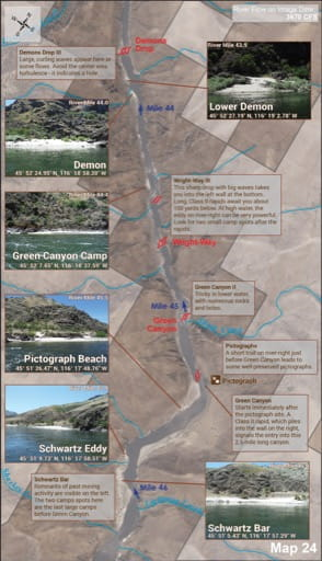 map of Lower Salmon River - Guide 24