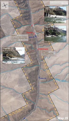 map of Lower Salmon River - Guide 29