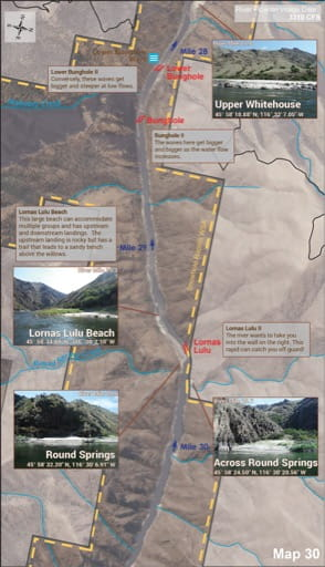 map of Lower Salmon River - Guide 30