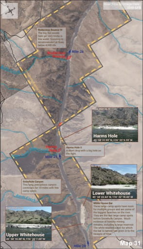 Map 31 of the Lower Salmon River Guide in Idaho. Published by the Bureau of Land Management (BLM).