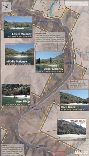 map of Lower Salmon River - Guide 33