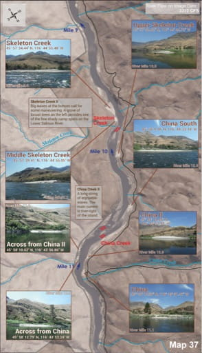 map of Lower Salmon River - Guide 37