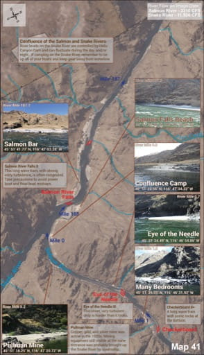 map of Lower Salmon River - Guide 41