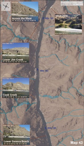 map of Lower Salmon River - Guide 43