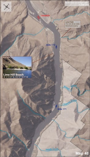 map of Lower Salmon River - Guide 48
