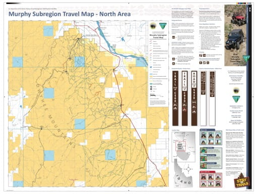 map of Murphy Subregion - Travel Map North
