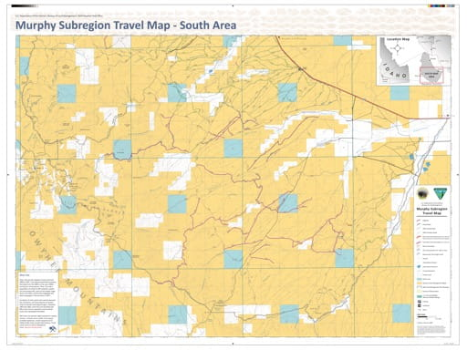 map of Murphy Subregion - Travel Map South