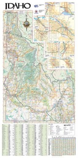 map of Idaho State - Idaho State Map