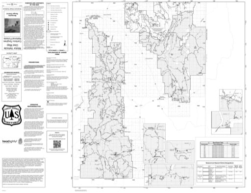 Motor Vehicle Use Map (MVUM) of the Dubois Ranger District in Caribou-Targhee National Forest (NF) in Idaho. Published by the U.S. Forest Service (USFS).