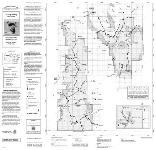 map of Caribou-Targhee MVUM - Montpelier Winter 2016