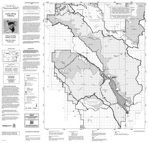 map of Caribou-Targhee MVUM - Palisades Winter 2016