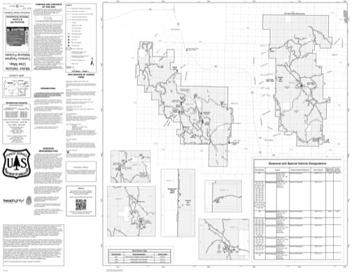 Motor Vehicle Use Map (MVUM) of the northern part of Westside Ranger District in Caribou-Targhee National Forest (NF) in Idaho and Utah. Published by the U.S. Forest Service (USFS).