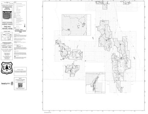 Motor Vehicle Use Map (MVUM) of the southern part of Westside Ranger District in Caribou-Targhee National Forest (NF) in Idaho and Utah. Published by the U.S. Forest Service (USFS).