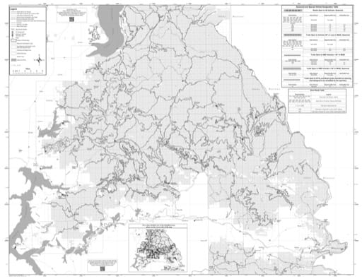 Motor Vehicle Use Map (MVUM) of Coeur d'Alene River (Front) in Idaho Panhandle National Forest (NF) in Idaho. Published by the U.S. Forest Service (USFS).
