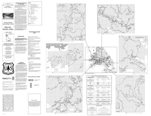 Motor Vehicle Use Map (MVUM) of Coeur d'Alene River (Back) in Idaho Panhandle National Forest (NF) in Idaho. Published by the U.S. Forest Service (USFS).