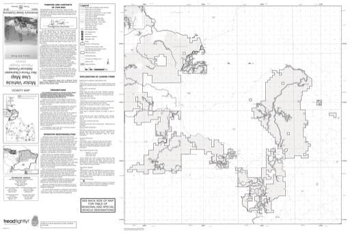 map of Nez Perce-Clearwater MVUM - Deary-Elk River 2016