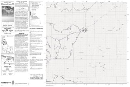 map of Nez Perce-Clearwater MVUM - Knife-Edge Ninemile 2016