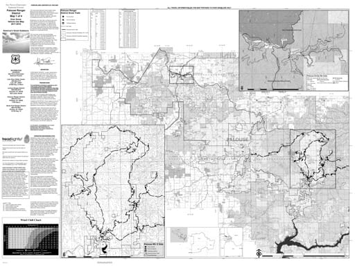 map of Nez Perce-Clearwater MVUM - Palouse Winter 2017