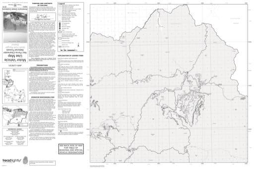 map of Nez Perce-Clearwater MVUM - Upper North Fork 2016
