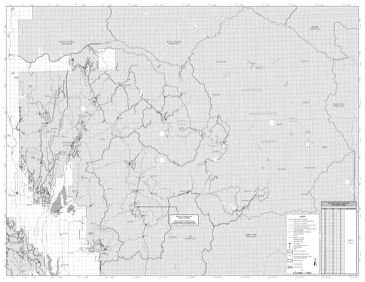 Motor Vehicle Use Map (MVUM) of the eastern part of Payette National Forest (NF) in Idaho. Published by the U.S. Forest Service (USFS).
