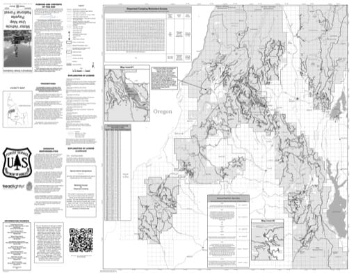 Motor Vehicle Use Map (MVUM) of the western part of Payette National Forest (NF) in Idaho. Published by the U.S. Forest Service (USFS).