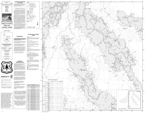 Motor Vehicle Use Map (MVUM) of Yankee Fork (East) in Salmon-Challis National Forest (NF) in Idaho. Published by the U.S. Forest Service (USFS).