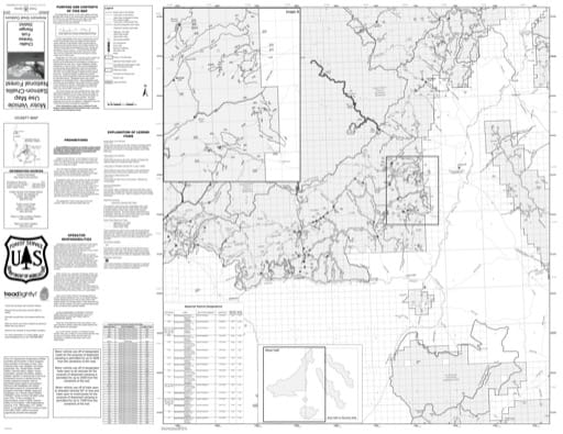 Motor Vehicle Use Map (MVUM) of Yankee Fork (West) in Salmon-Challis National Forest (NF) in Idaho. Published by the U.S. Forest Service (USFS).