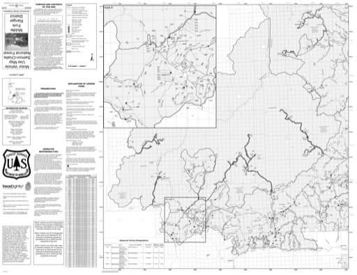 map of Salmon-Challis MVUM - Middle Fork 2018