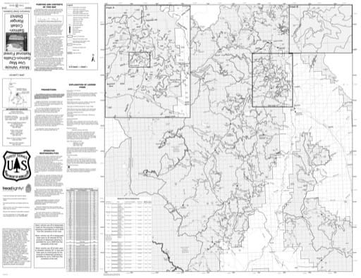 Motor Vehicle Use Map (MVUM) of Salmon-Cobalt in Salmon-Challis National Forest (NF) in Idaho. Published by the U.S. Forest Service (USFS).