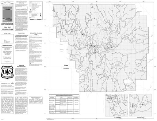 Motor Vehicle Use Map (MVUM) of the Cassia Division of Minidoka Ranger District in Sawtooth National Forest (NF) in Idaho. Published by the U.S. Forest Service (USFS).,