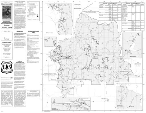 Motor Vehicle Use Map (MVUM) of Fairfield Ranger District in Sawtooth National Forest (NF) in Idaho. Published by the U.S. Forest Service (USFS).,