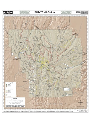 map of Sawtooth - OHV Trails