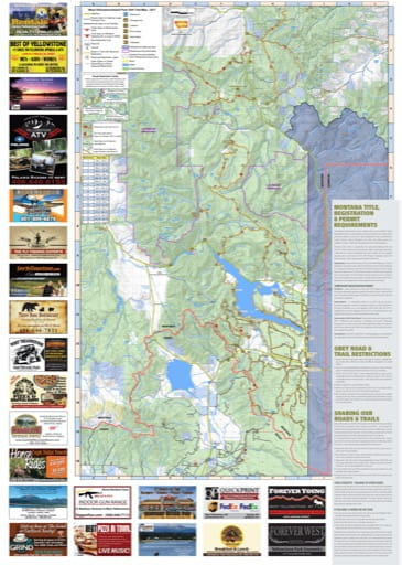 map of West Yellowstone - OHV North