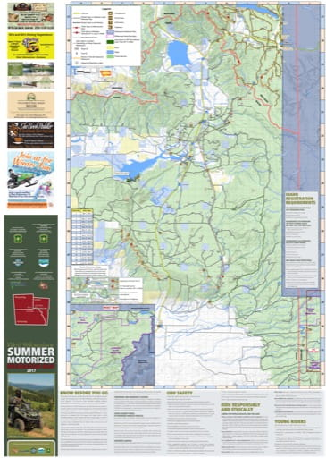 map of West Yellowstone - OHV South