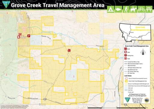 map of Grove Creek